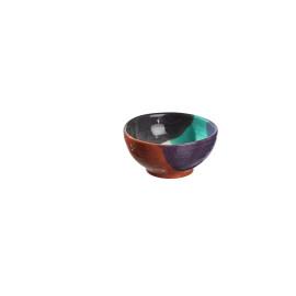 PLAYA - salad cup - earthenware - hand painted - dark gray - 15x20 cm