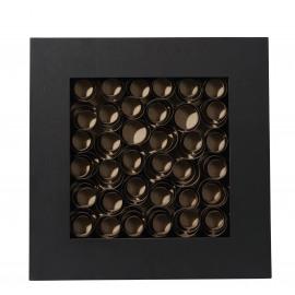 NOTUS - spiraal deco kader - hout - bruin - 60x6x60