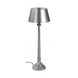 COPENHAGEN - tafel lamp+lampekap - hout - zilver - 13,5x66,5