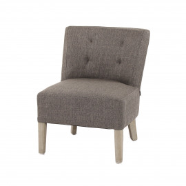 KENNEDY - KENNEDY - fireside chair  - cotton / polyester - L 52 x W 58 x H 68 cm - light grey