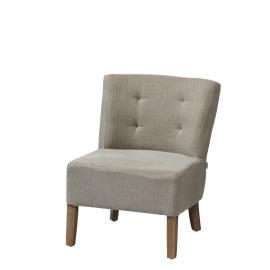 KENNEDY - KENNEDY - fireside chair  - cotton / polyester - L 52 x W 58 x H 68 cm - Sand