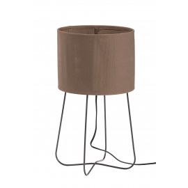 FOLK - tafel lamp - canvas/metaal - taupe - 27x46