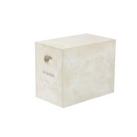 ESSENTIAL - Rechthoekige pouf - Fiberflex - wit - 30x50x43