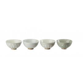 OSAWA - GIFT BOX 4 assorted bowls - stoneware