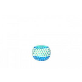 BABA - ball hurricane-  glass mosaic - turquoise - S - 10x10