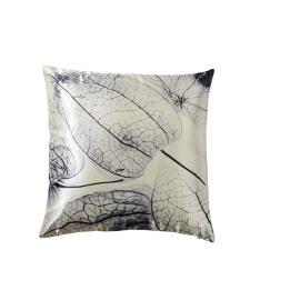GENESIS - kussen chrysalis - satijn - wit & zwart - 45x45 cm