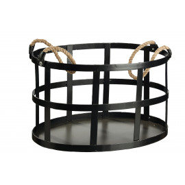 PADAM - Log Holder - Iron - black - 55x36x32 cm