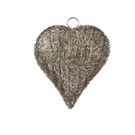 BE LOVED - Lamp in hartvorm - metaal - S -20x12x24cm