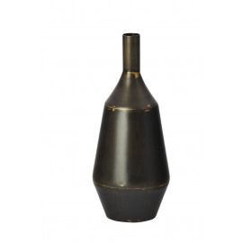 BALBOA - vaas - metaal - antiek zwart - Ø13xH30 cm