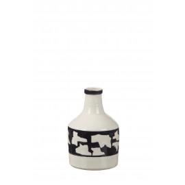 MADOURA - vaas - keramiek - zwart/wit - Ø15x23 cm