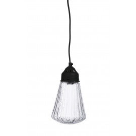 PLIAGE - hanging lamp 1L - metal/glass - black matt - E14 - Ø12x20cm