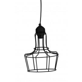 METAL'O - hanging lamp 1 L - metal - black matt - E27 - Ø20x28cm