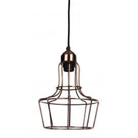 METAL'O - hanging lamp 1 L - metal - Shiny copper - E27 -    Ø20x28cm