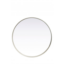 KELLY - ronde spiegel - metaal/spiegel - wit - S - Ø31x5cm