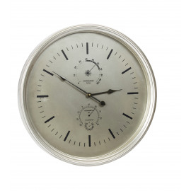 DOWNTOWN - clock - metal - silver -  Ø35cm