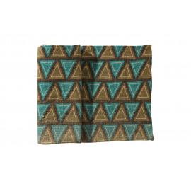 BOSSA - tafelloper met driehoeken - 100% jute - smaragd -40x140 cm