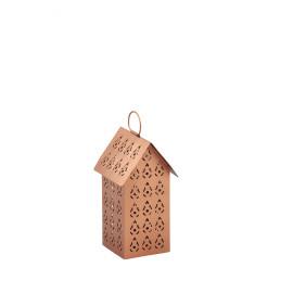 SWEET -T/light huis - metaal - koper - S - 9x9x17 cm