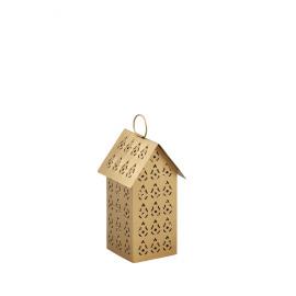 SWEET -T/light huis - metaal - goud - S - 9x9x17 cm