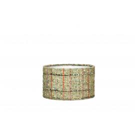 LAMPEKAP CYLINDER - E27 - TWEED GROEN - Ø20XH11,5 CM