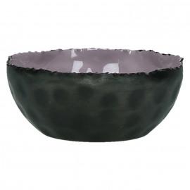 FAVORIT' - Schaal -ijzer/geëmailleerd - violet - Ø13x5cm