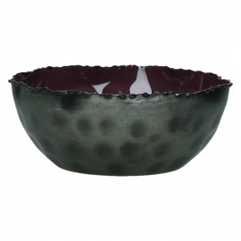 FAVORIT' - Bowl -iron/enamel - purple -Ø13x5cm