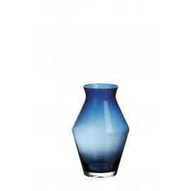 VAZA - vaas - glas - blauw - Ø16,5x25 cm