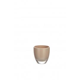 BÔ - vaas - glas - beige - S - Ø9x9 cm