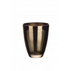 BÔ - vaas - glas - brons - M - Ø16,2x20 cm