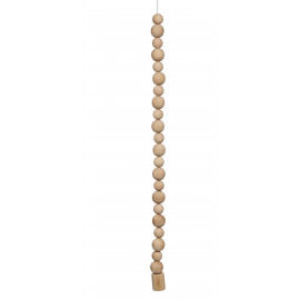 MAJORCA - hanging lamp 1L w/ wooden balls - wood - natural - Ø6x120 cm