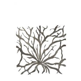 LAGON - set 2 koralen - metaal - 52x52 cm