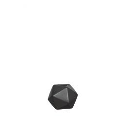 INTERFACE - vase - earthenware - black - S - Ø10,5x12 cm