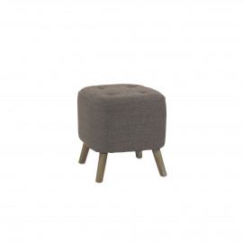 KENNEDY - KENNEDY - stool  - cotton / polyester - L 38 x W 38 x H 40 cm - Light Gray