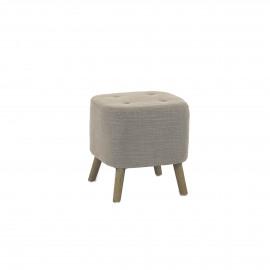 KENNEDY - KENNEDY - pouf - coton / polyester - L 38 x W 38 x H 40 cm - Sable