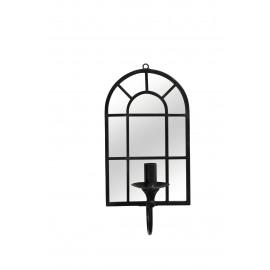 WINDOW - muurlamp spiegel - spiegel/metaal - zwart - 22,5x16x45,5 cm