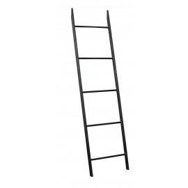 ZEN - ladder - metaal - zwart - ijzer - L 41 x W 3 x H 154 cm