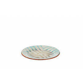 TRIBAL - dessert plate - earthenware - hand painted