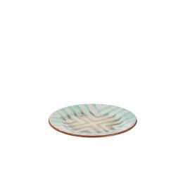 TRIBAL - dessert bord - aardewerk - hand geschilderd