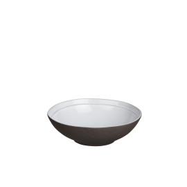 PRIMITIF - assiette creuse - porcelaine - volcan/blanc - Ø17 cm