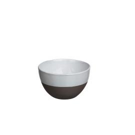 PRIMITIF - assiette dessert - porcelaine - volcan/blanc - Ø21 cm