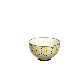 EDEN - bowl - stoneware - yellow/black - Ø11,5cm x 6,5cm