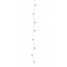 MESSAGER - garland w/ bottles - glass/16 bulbs LED - warm white - 3 meters