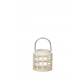 COLORS - lantaarn - aardewerk - wit - M - DIA 12x12 cm