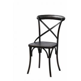 LARA - stoel - ijzer - zwart - 51x52x88 cm
