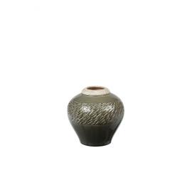 ZAZOU - vaas - aardewerk - grijsgroen - S - DIA 20x20 cm