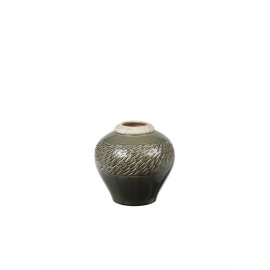 ZAZOU - vase - ceramic - greyish green - S - DIA 20x20 cm