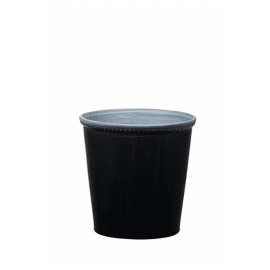 JAZZY - cache pot -  aardewerk - zwart - M - DIA 17x17 cm