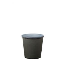 JAZZY - cache pot - céramique - gris vert - S  - DIA 13x13 cm