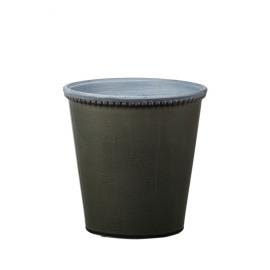 JAZZY - cache pot - aardewerk - grijsgroen - L - DIA 21x21 cm