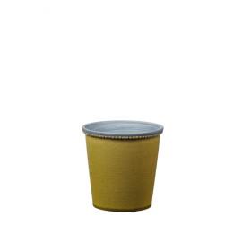 JAZZY - cache pot -  aardewerk - limoen - S  - DIA 13x13 cm