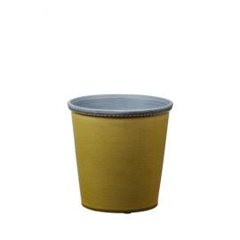 JAZZY - cache pot -  aardewerk - limoen - M - DIA 17x17 cm